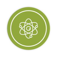 Icon showing the structure of an electron